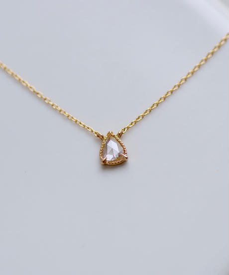 One of a kind / Rosecut Diamond Necklace <K18YG> - NR168C