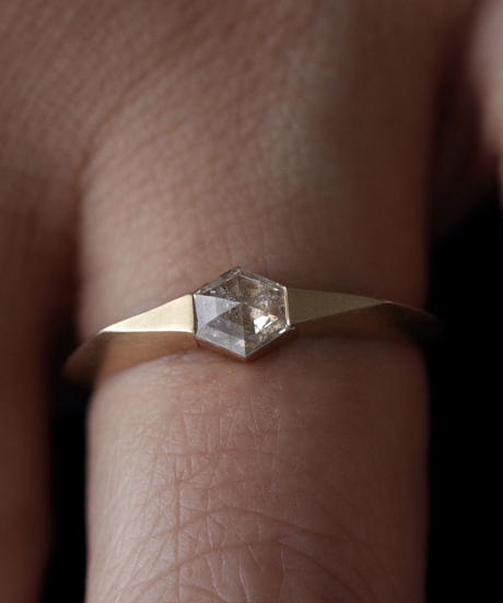 One of kind / Diamond Ring <K18YG> -R344C
