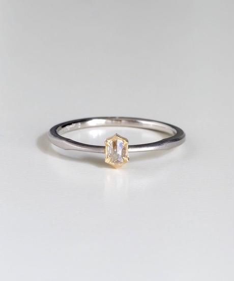One of kind / Rosecut Diamond Ring <PT950/K18YG> -RR065C
