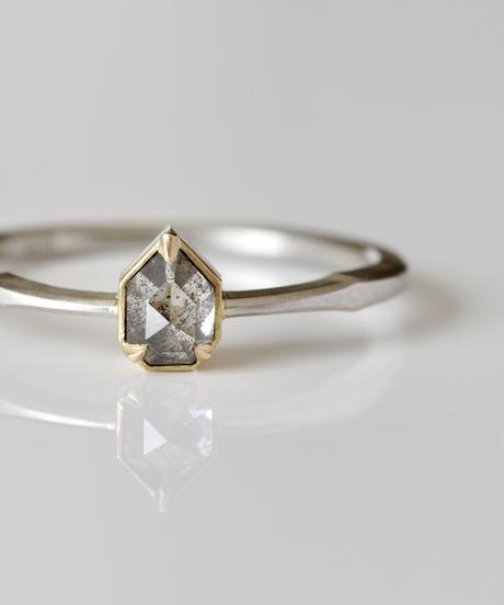 One of a kind / Diamond Ring <PT950,K18YG> - R 373C
