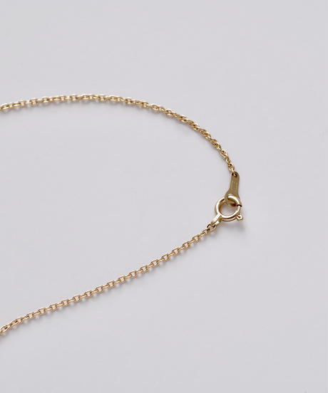 One of a kind / Spindle series Flat bar center in South sea pearl - champagne yellow <K18YG>