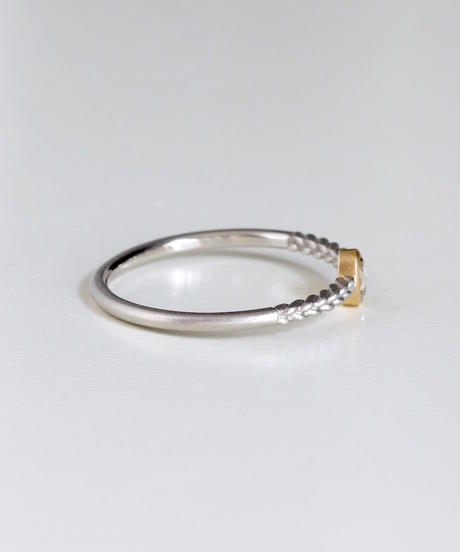 One of kind / Rosecut Diamond Ring <PT950/K18YG> -RR085C