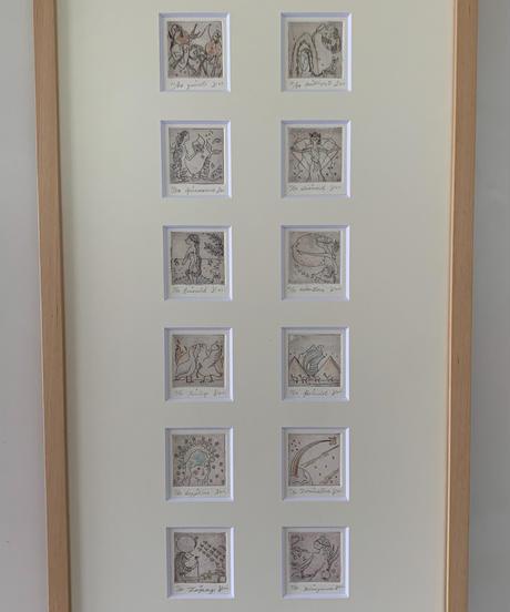 12誕生石 組み銅版画