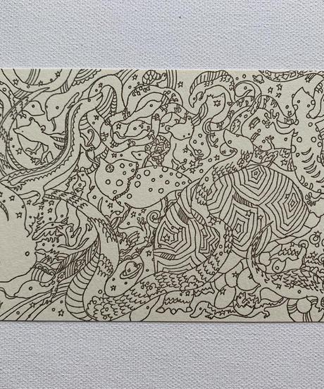 Pet post card set