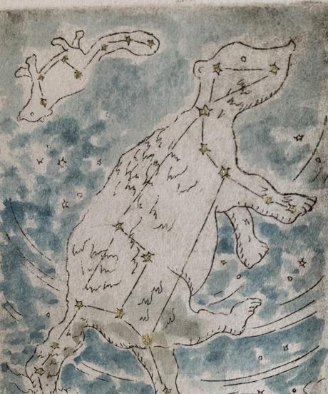 Kallistō おおくま座とこぐま座 (エッチング作品)