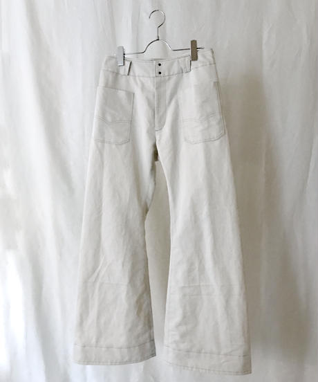 C/L chino loose fit bell-bottoms (ivory) / Size-1