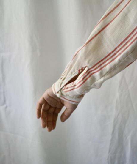 check scarf blouse (coral check)