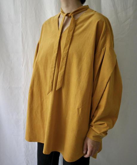 tuck sleeve blouse(koganeiro)