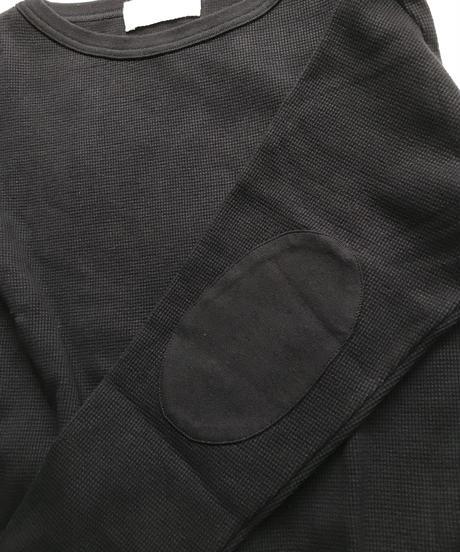 boat neck thermal tops(black)