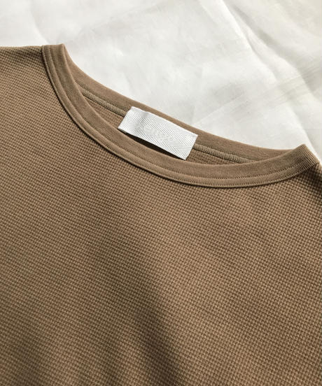 boat neck thermal tops(beige)