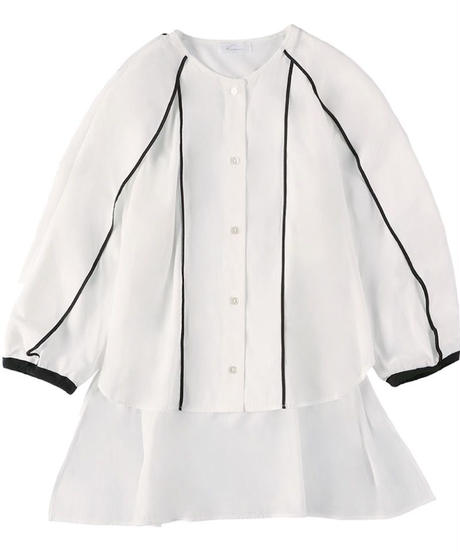Piping blouse WHITE