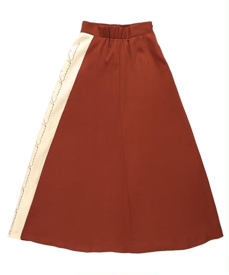 Bicolor kicuri print skirt RED