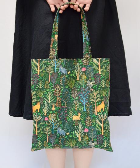 動物の目に映る夜 Linen Bag リネントートバッグ