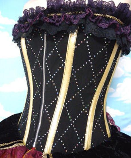 kki.1570 夜明けの魔女コルセット/HAT&バッスルSet 。