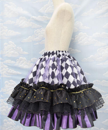 kki.2156 マジカルヴァイオレットフリルスカート。