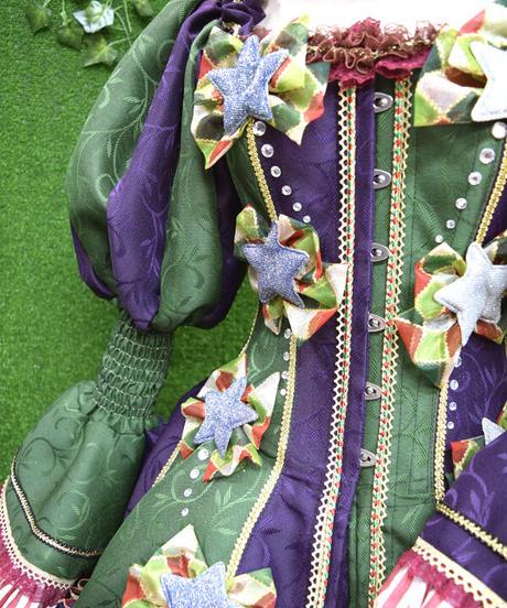 kki.2353 星屑のドレスコルセット。HAT、スカート、ロングスカート、クリノリンパニエ5点Set
