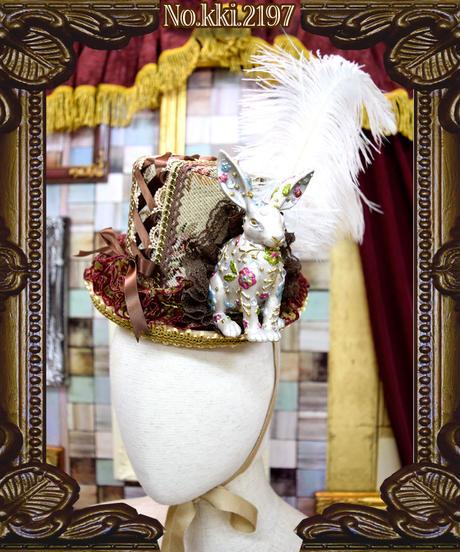 kki.2197 魔法のウサギ、ゴブランドールHAT<ホワイト>。