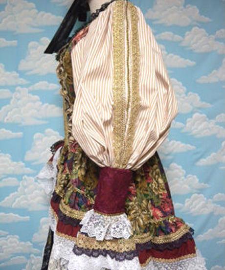 kki.1576 ドライローズコルセットドレス/カクテル&スカートSet 。