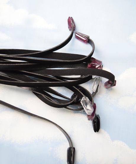 kki.2102 ブラックホースクリスタルバラ鞭。