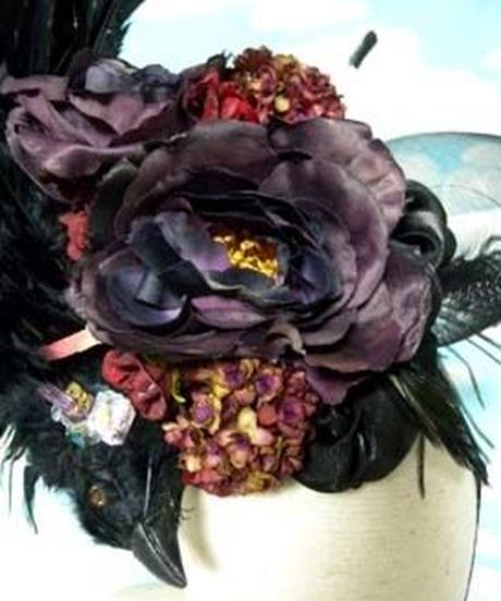 kki.1582  星から堕ちた烏の花園ヘッドドレス 。
