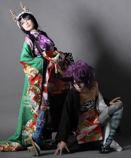 ki-J.0006 丑と鶴のふんどしメンズタイプウエストコルセット。Set