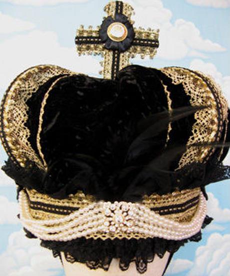 kki.1211 ロイヤルミッドナイトクイーン王冠 。