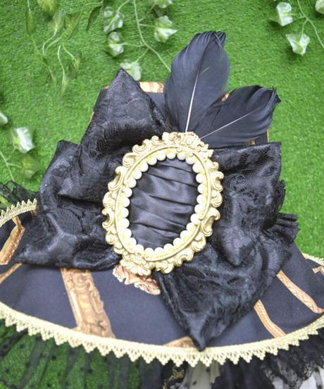 kki.2360 ロマンチックフレームホルターリボンワンピース/HAT set。