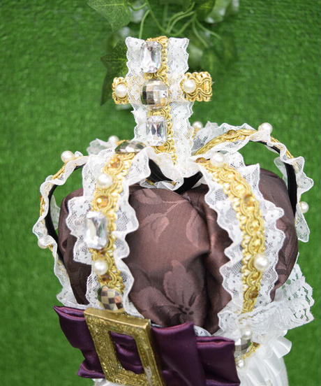 kki.2315 ヴィンテージクリスタルブラウン王冠。