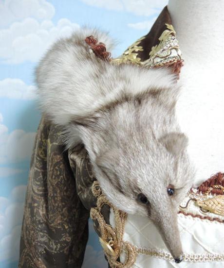 kki.1908 狐の中綿ダウンナポレオンコート。
