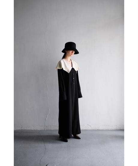 coat dress  - black