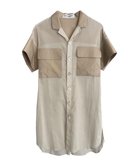 double pocket shirt (beige)