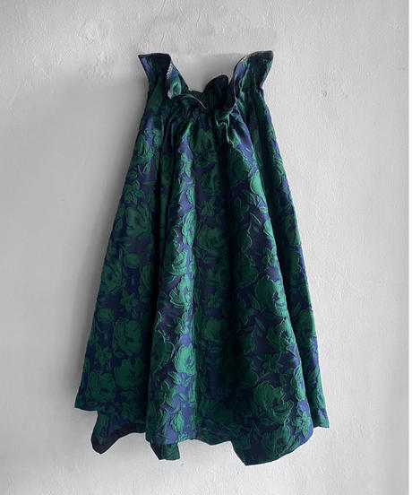 circular floral skirt - flower green