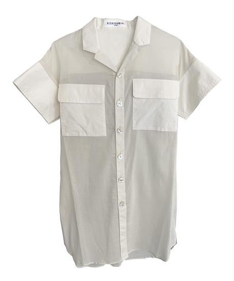 double pocket shirt (white)
