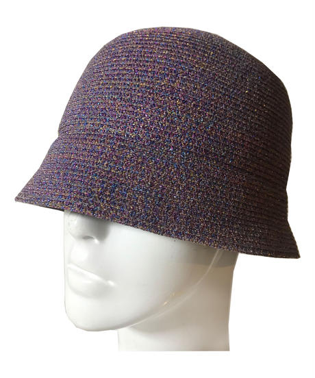 Lame cloche hat (purple)
