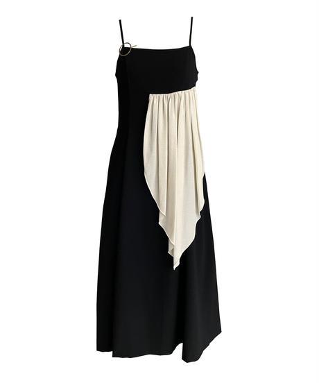 strap dress (black)