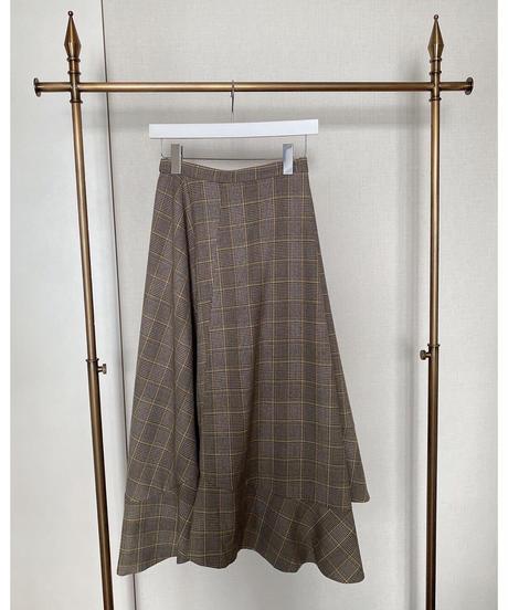 Acka original flare check skirt