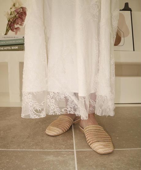 Mesh flat sandal