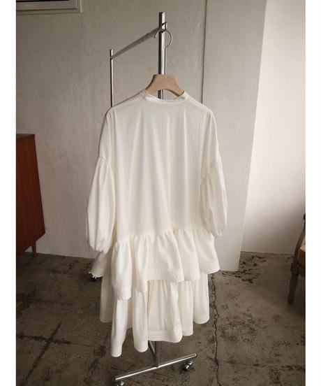Acka original frill shirt one-piece