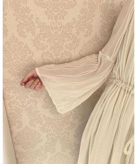 Acka original flare sleeve pleats one-piece