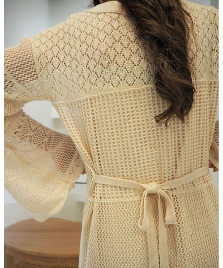 Acka original openwork knit one-piece