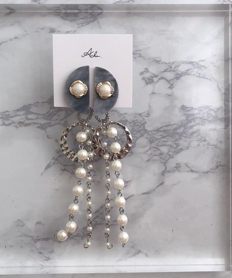 handmade  parl earring  -622-