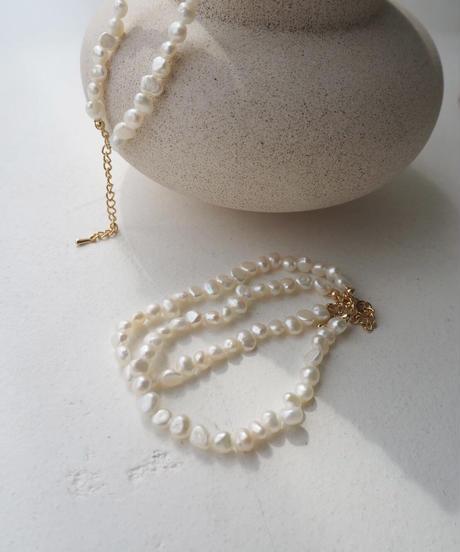 淡水pearl double bracelet