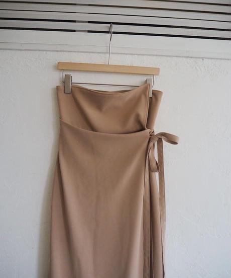 Acka original wrap long skirt