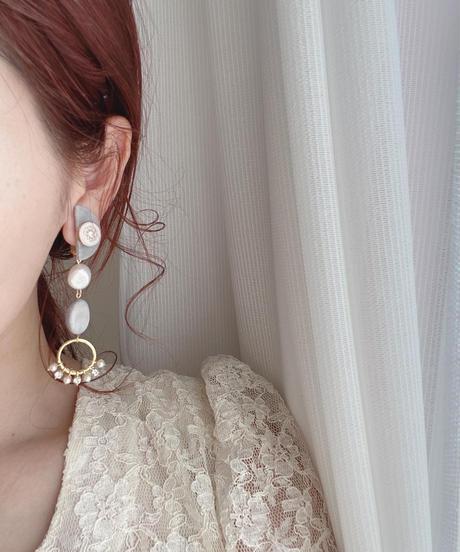 handmade earring  -638-