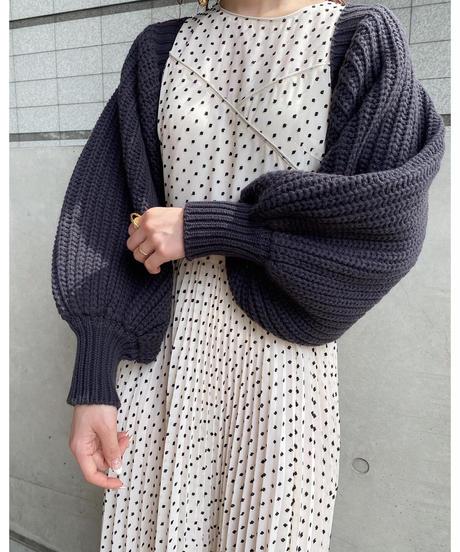 sleeve knit  cardigan