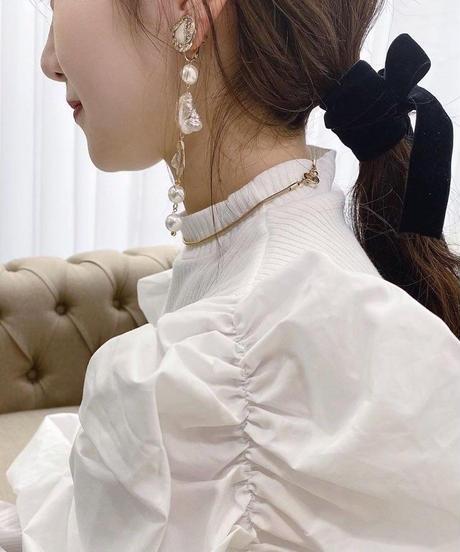 handmade shell perl earring