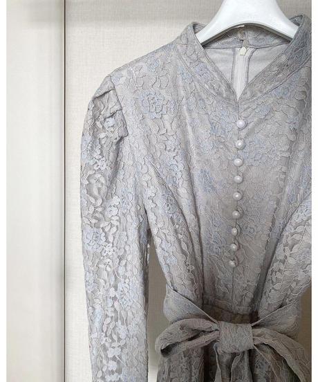 Acka original  lace pleats one-piece