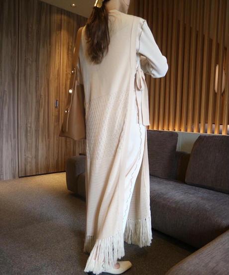 Acka original fringe knit long vest