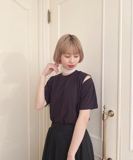 shoulder cut tee  -FA403-