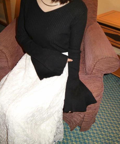 preppie flare rib knit